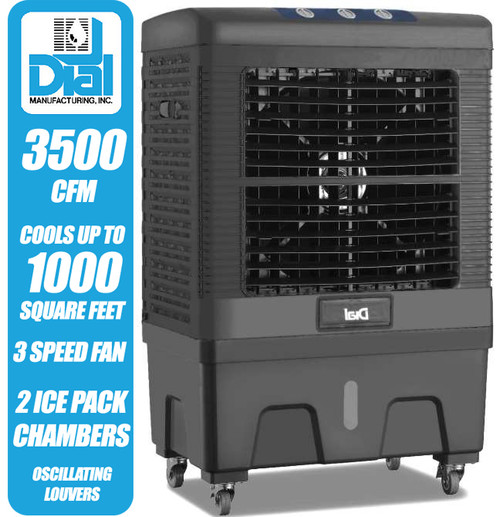 3500 CFM Mobile Evaporative Cooler with Ice Packs