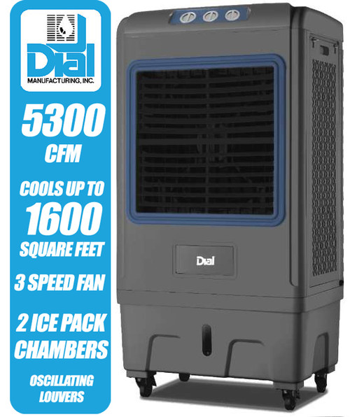5300 CFM Mobile Evaporative Cooler with Ice Packs