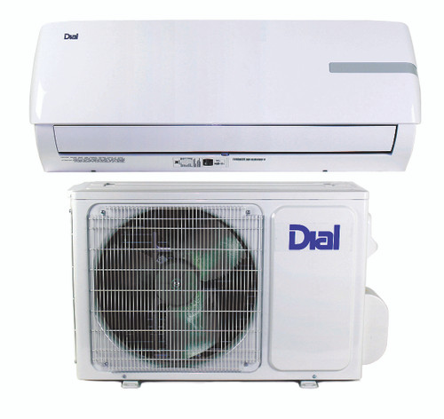 Ductless Mini-Split Air Conditioner and Heat Pump 9,000 BTU 16 SEER 3/4 Ton - 230 Volt - DIAL 80100