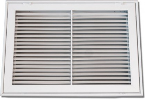 30X20 Air Return Filter Grille Bar Face White PSFBGW3020