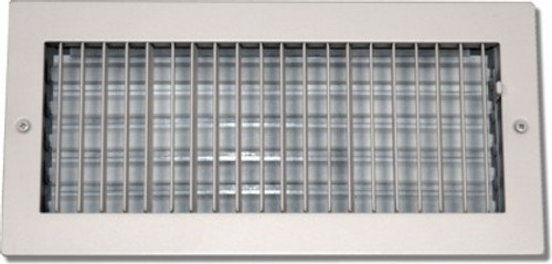 24 X 8 Air Register Adjustable Bar Face Vent White PSAASW24X