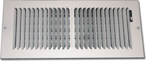 24 X 8 Air Register 2 Way Stamped Face White PS2WW24X