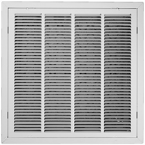 24 x 24 Air Return Filter Frame - T Bar Ceiling White - Insulated Back S106FG