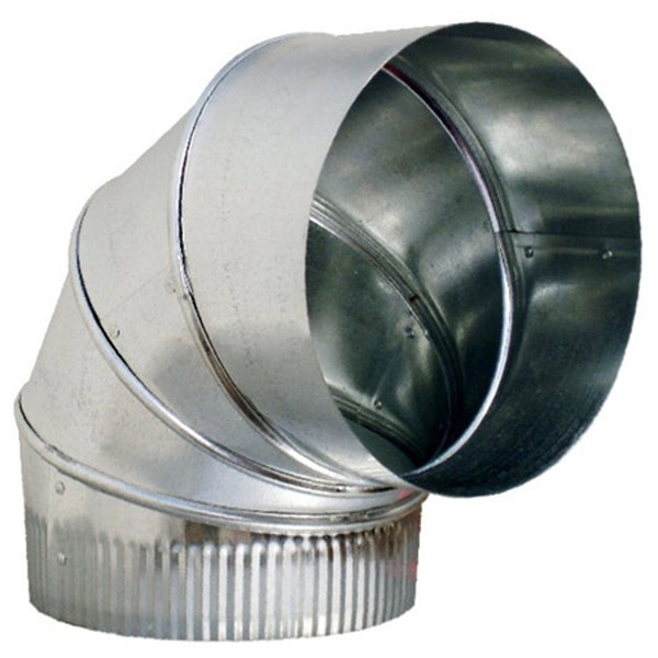 "4"" 90 Degree Adjustable Elbow HVAC Ductwork Sheet Metal"