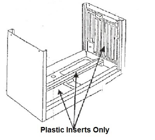 "Plastic Water Pan & Sides for Aerocool 6800 12"" Pad 5-6-170"