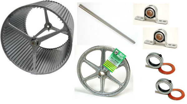 """1"""" BLOWER UPGRADE KIT 4800 with 11"""" Pulley"""