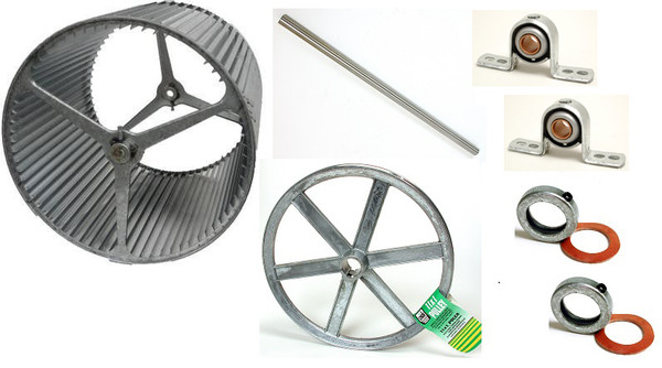 """1"""" BLOWER UPGRADE KIT 6500 with 14"""" Pulley"""