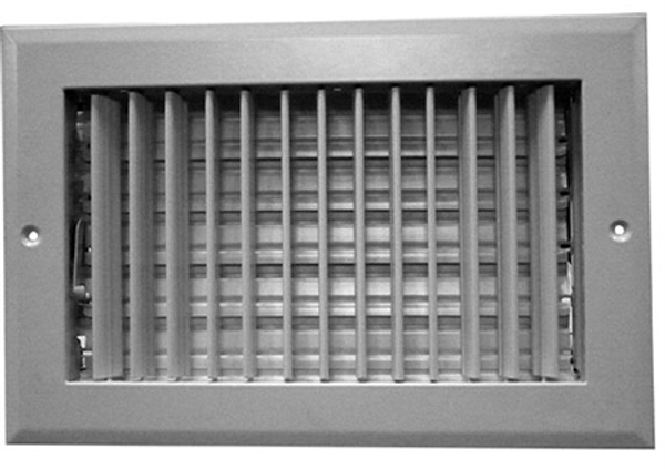 10X6 Air Register Adjustable Bar Face White PSAASW10U