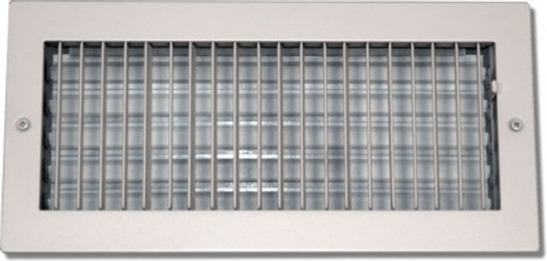 14X8 Air Register Adjustable Bar Face White PSAASW14X