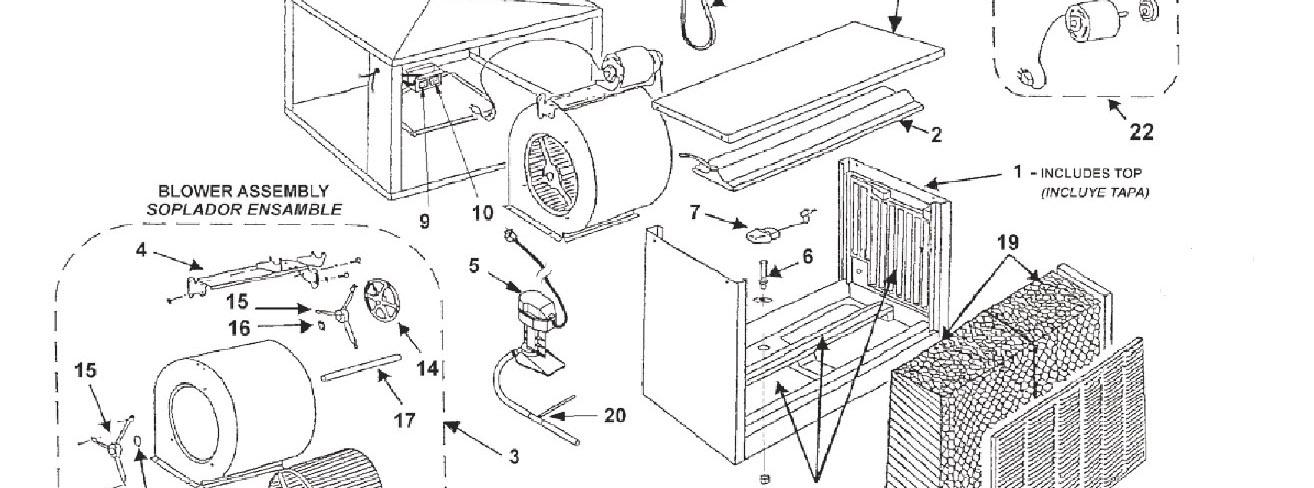 evaporative cooler motor wiring diagram evaporative cooler parts breakdown mastercool parts finder  evaporative cooler parts breakdown