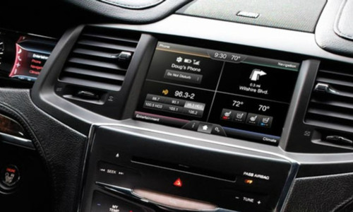 2013 2014 2015 Lincoln MKS Navigation Kit for MyFord Touch Systems - Installed View