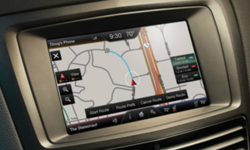 2015 Lincoln MKT Navigation Kit for MyFord Touch Systems - Installed View