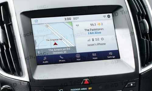 2017 2018 Ford Edge Navigation Kit for SYNC 3 - Installed View