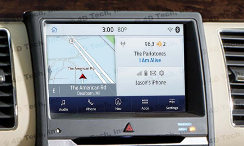2017 2018 Ford Flex Navigation Kit for SYNC 3 - Installed View