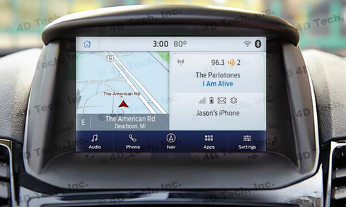 2017 2018 Ford Fiesta Navigation Kit for SYNC 3 - Installed View