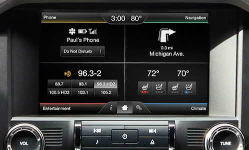 "2015 Ford Mustang SYNC 2 Retrofit Kit for 4"" SYNC Equipped Vehicles - Installed View"