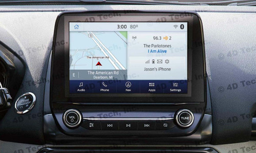 2018 2019 Ford EcoSport Navigation Kit for SYNC 3 - Installed View