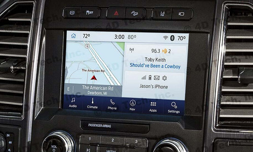 """2020 Ford Super Duty SYNC 3 Retrofit Kit for 4"""" SYNC Equipped Vehicles - Installed View"""