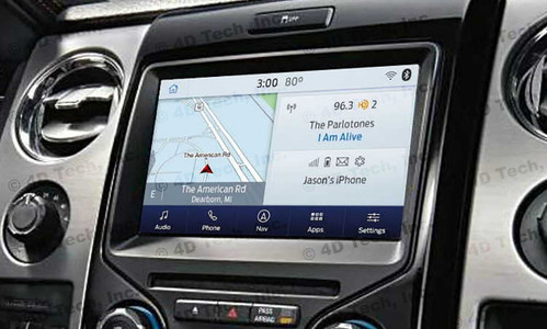 2013 2014 Ford F-150 Navigation Kit for MyFord Touch Systems - Installed View