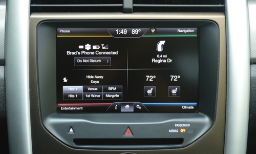 2011 2012 2013 2014 2015 Ford Edge Navigation Kit for MyFord Touch Systems - Installed View