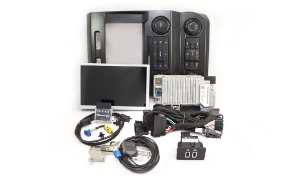 """2019 Ford Super Duty SYNC 3 Retrofit Kit for 4"""" SYNC Equipped Vehicles - Installed View"""