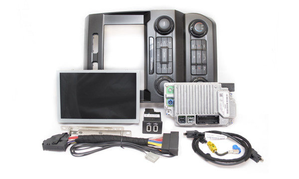 """2020 Ford Super Duty SYNC 3 Retrofit Kit for 4"""" SYNC Equipped Vehicles - Kit Contents"""