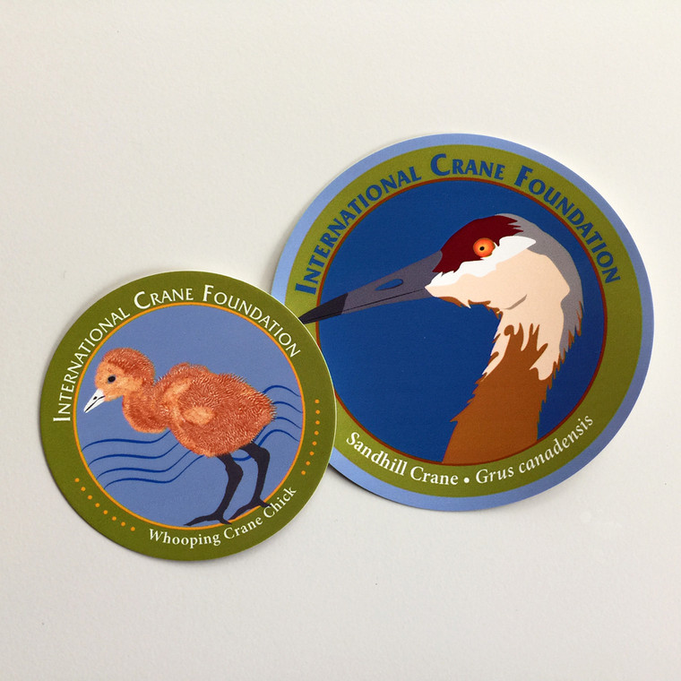 Crane Chick Window Cling