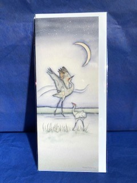 Sandhill Crane Dance is a card you can use for all occasions. The card is blank and is waiting for the perfect message.