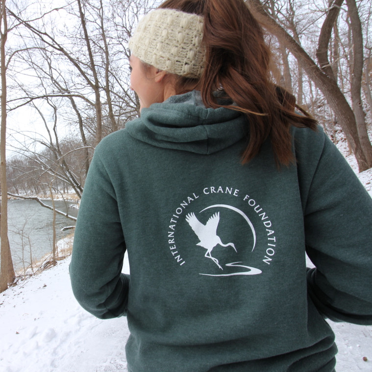 International Crane Foundation Logo Pullover Hoodie