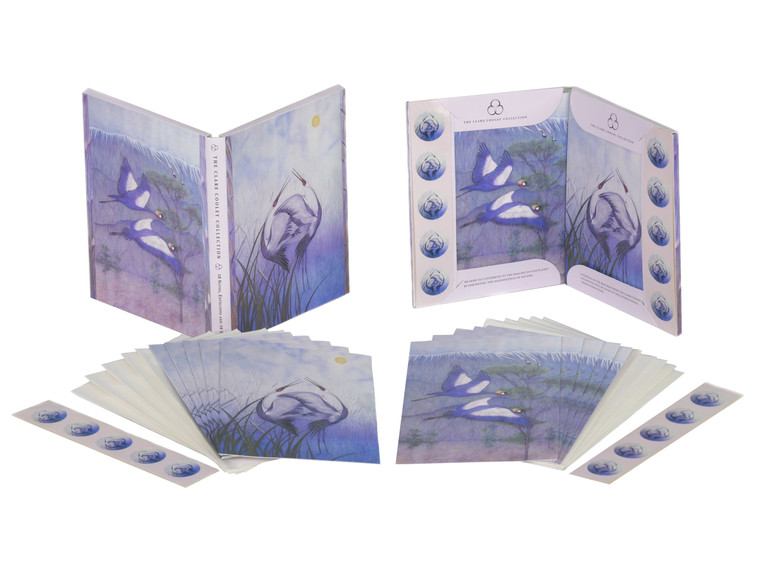 The Clare Cooley Collection - Note Cards White-Napped Crane