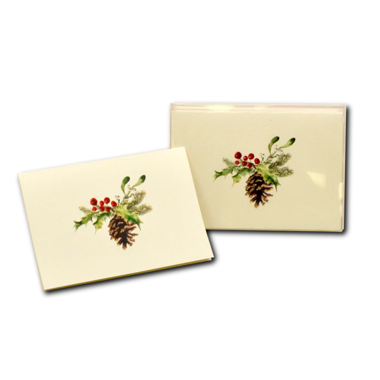 Christmas Pine Cone Boxed Notes