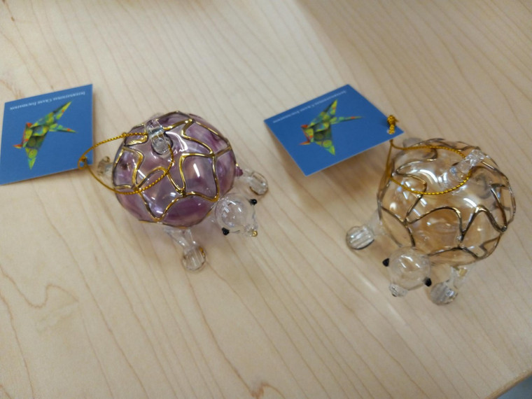 Egyptian Glass Turtle Ornaments