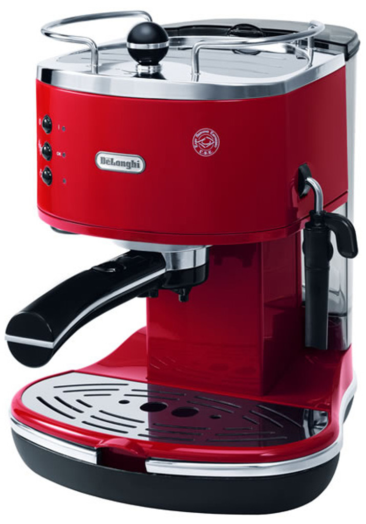 ICONA PUMP COFFEE MACH, RED