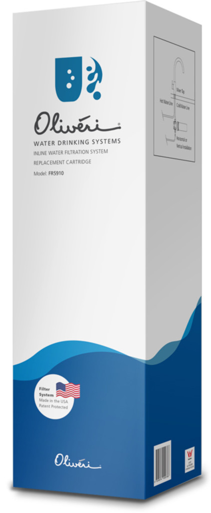 Inline Water Filtration System Replacement Cartridge