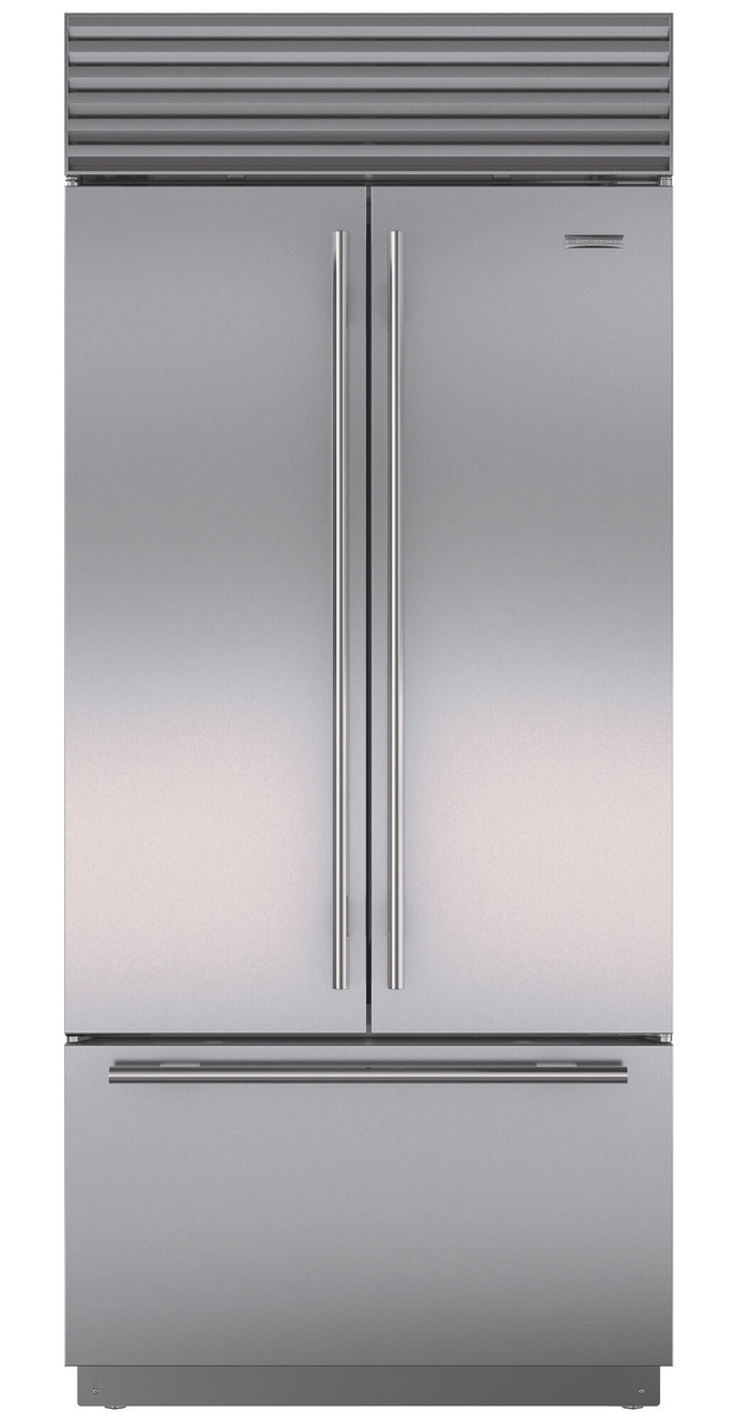 Icbbi36ufdidsth 604l Built In Classic French Door Fridge With Internal Water Dispenser Ice Maker Tubular Handle Stainless Steel Spartan Electrical