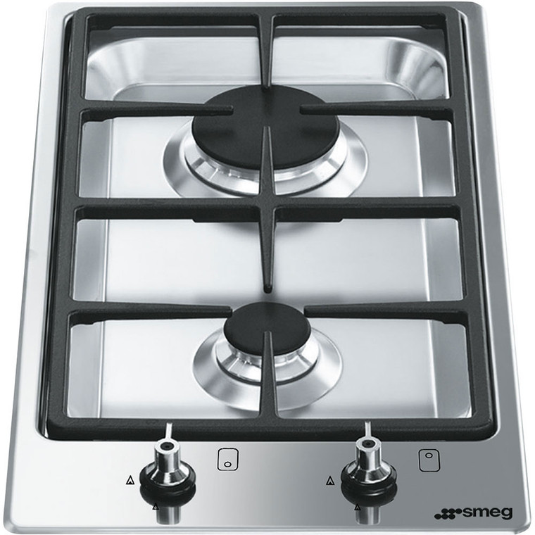 PGA32G - 30cm Classic Domino 2 Burner Gas Cooktop - Satin Stainless Steel