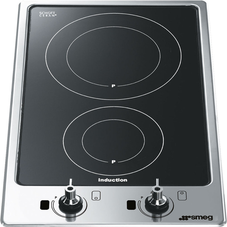 PGF32I-1 - 30cm Classic Domino Induction 2 Zone Cooktop - Black Ceramic / Stainless Steel