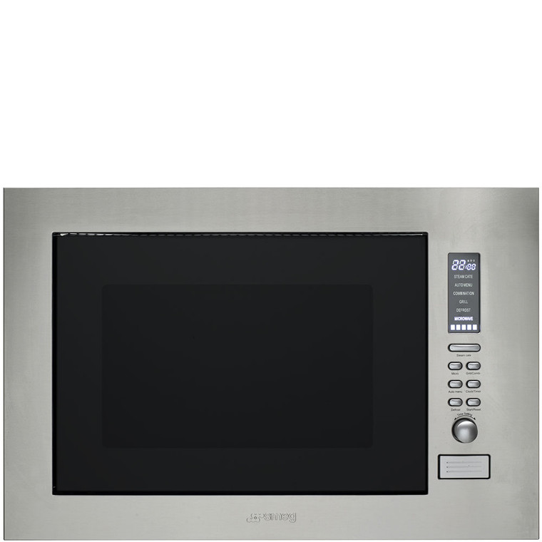 SBIM30X-1 - 25L Built-in Microwave Oven With Grill And Steam - Stainless Steel