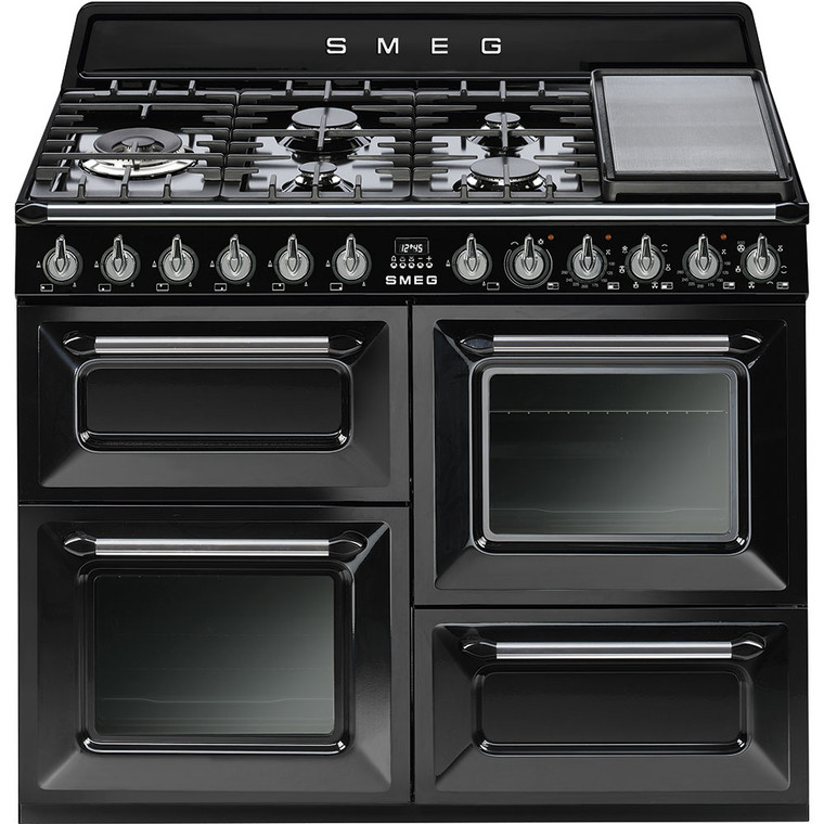 TRA4110BL - 110cm Victoria Thermoseal Freestanding Cooker, Seperate Grill, Triple Wok Burner - Black