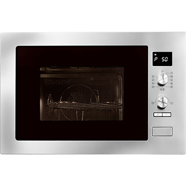AMC34BI - 60cm Built-In 34L Microwave Oven With Grill - Stainless Steel