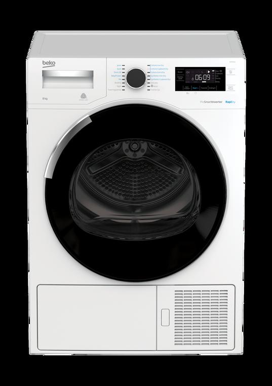 BDP83HW - 8kg Sensor Hybrid Heat Pump Dryer - White