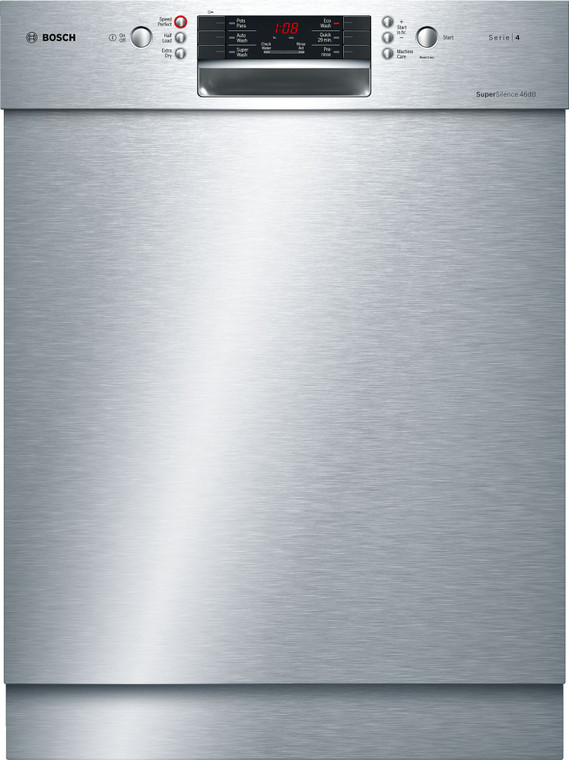 SMU46GS01A - 60cm Series 4 Built-Under Dishwasher - Stainless Steel