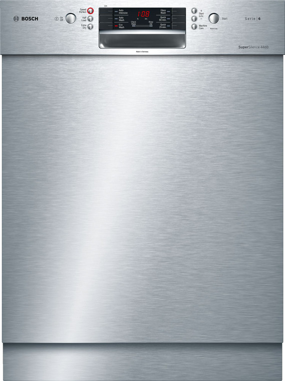 SMU66MS02A - 60cm Series 6 Built-Under Dishwasher - Stainless Steel