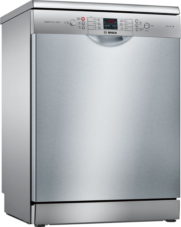 SMS46KI01A - 60cm Series 4 Freestanding Dishwasher with Cutlery Tray - Stainless Steel