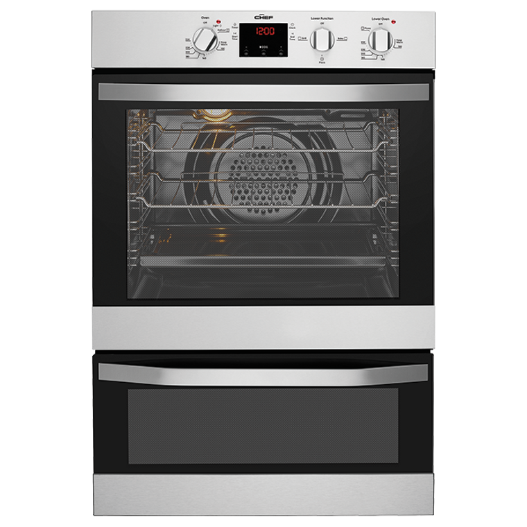 CVE624SA - 60cm Multifunction Double Oven - Stainless Steel