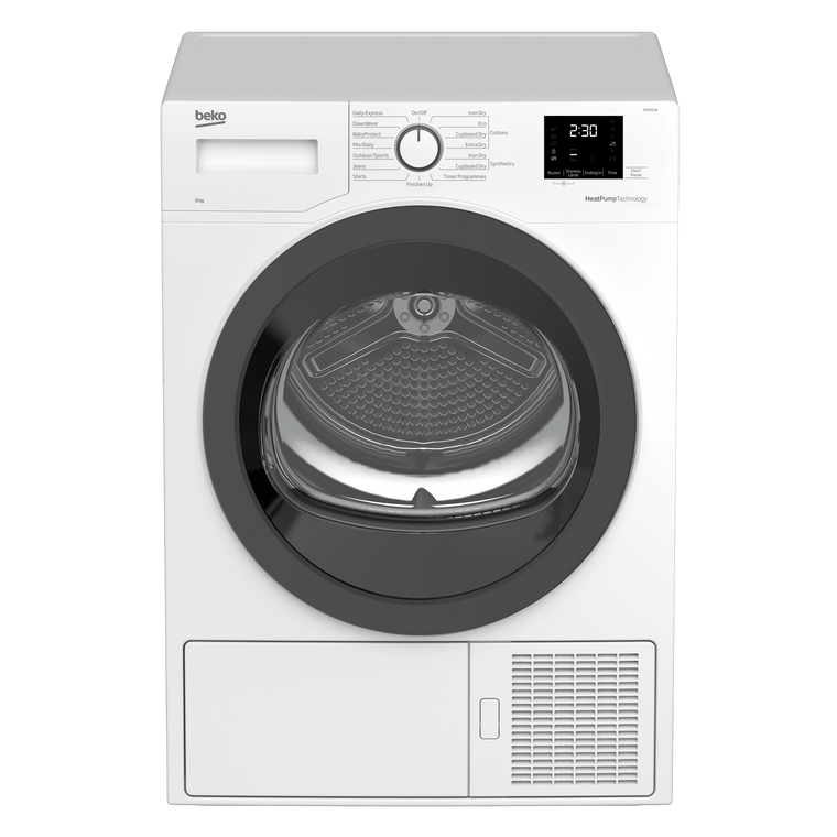 BDP810W - 8kg Sensor Controlled Heat Pump Dryer