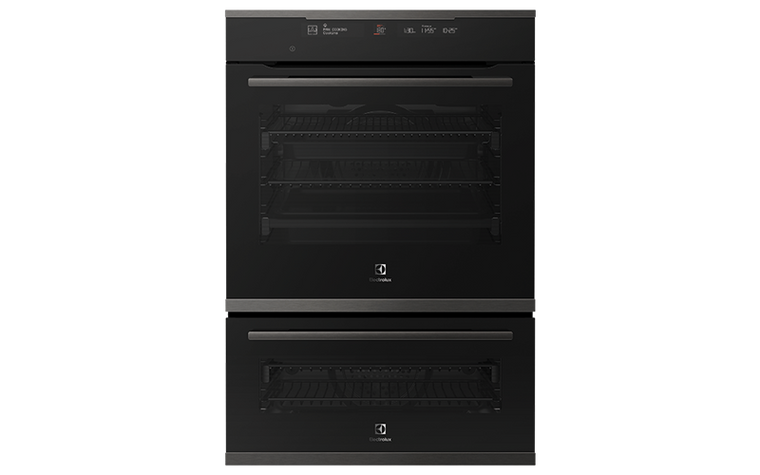 EVEP626DSD - 60cm Multifunction Duo Steam Oven, Pyrolytic Cleaning - Dark Stainless Steel