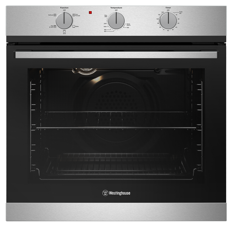 WVG613SCLP - 60cm Multifunction LPG Gas Oven with Electric Grill - Stainless Steel