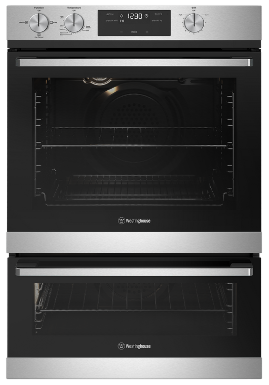 WVG665SCNG - 60cm Multifunction Natural Gas Oven with Separate Grill - Stainless Steel