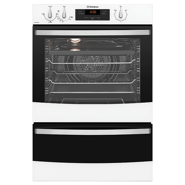 WVG665WC - 60cm Multifunction LPG Gas Oven with Separate Grill - White